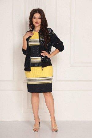 Бомбер, платье Solomeya Lux 714 сине-желтый