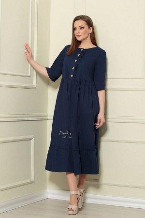 Платье Andrea Style 359/12 синий