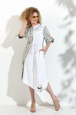 Платье Euromoda 352 серый