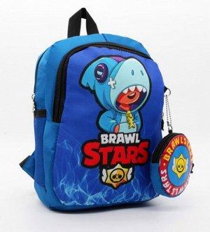 Голубой Стильный, легкий и практичный рюкзак Бравл Старз / Brawl stars станет незаменимым аксессуаром для ребенка. Он имеет оптимальный размер высота30 ширина23 глубина10 см. С ним очень удобно ходить