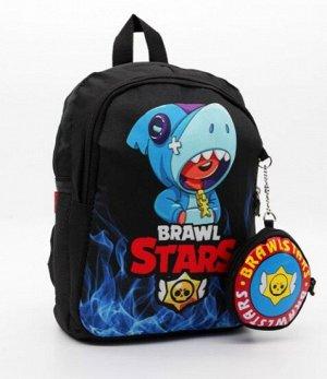 Черный Стильный, легкий и практичный рюкзак Бравл Старз / Brawl stars станет незаменимым аксессуаром для ребенка. Он имеет оптимальный размер высота30 ширина23 глубина10 см. С ним очень удобно ходить