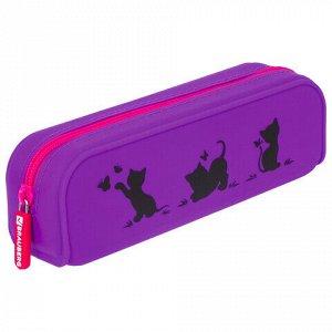 "Пенал-косметичка BRAUBERG, силикон, ""Kittens"", 20х5х6 см, 229028"