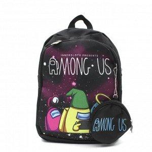 Черный Яркий, легкий и практичный рюкзак Among US станет незаменимым аксессуаром для ребенка. Он имеет оптимальный размер высота25 ширина20 глубина10 см. С ним очень удобно ходить в садик или на разви