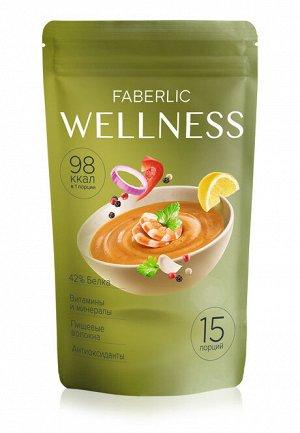 Сухой белковый суп Wellness со вкусом «Средиземноморский с креветками»