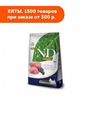 Farmina N&D Dog Prime Grain Free сухой беззерновой корм для собак мелких пород Ягненок/Черника 800гр