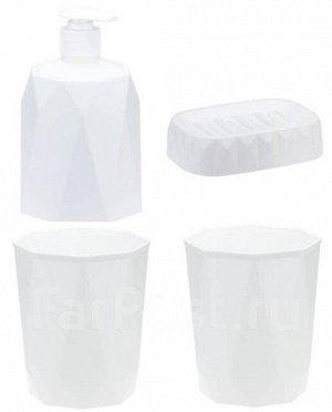 Набор для ванной: Дозатор д/мыла, мыльница и 2 стакана.