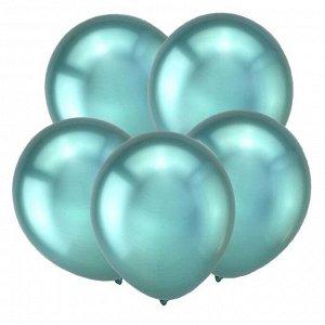 """Шар латексный 5"""" «Зеркальные шары», водные бомбочки, хром, зеленый, набор 50 шт."""