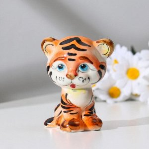 "Сувенир ""Тигр ""Арчи"". 10.5 см. гжель. цвет"