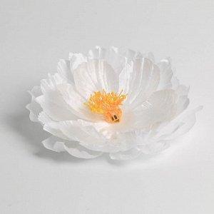 Белый цветок для свадебного декора, 30,5 х 23 х 1,8 см