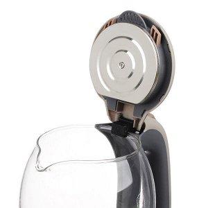 Чайник электрический со стеклянной колбой, 1,7л