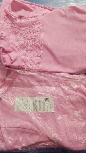Кофточка с кружевной кокеткой (розовая)