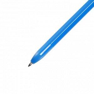 Набор ручек шариковых 4 штуки, стержень 0,7 мм, синий, корпус НЕОН