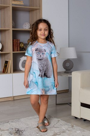 Платье Материал: Кулирка+лайкра. Состав: 95% Хлопок, 5% Лайкра