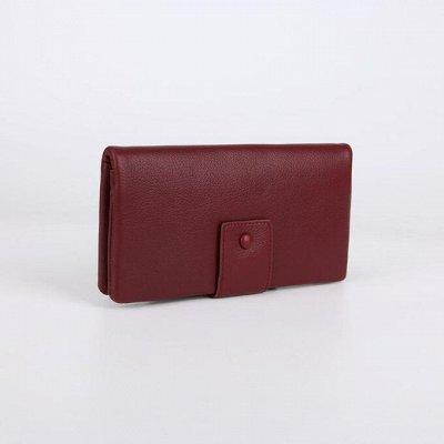Сумка - чемодан - кошелек — Кошелёк женский, 2 отдела на клапане — Кошельки