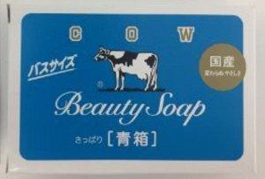 Молочное освежающее туалетное мыло с прохладным ароматом жасмина «Beauty Soap» синяя упаковка (кусок 130 г) / 72