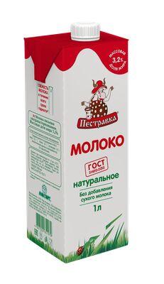 Молоко Пестравка 3,2% 1000мл ТБА