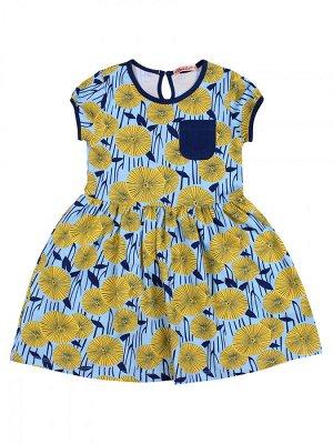 Платье для девочки,BK1174P, голубой
