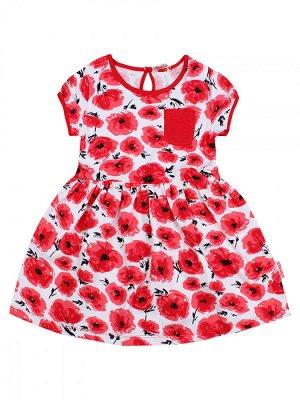 Платье для девочки,BK1174P, красный