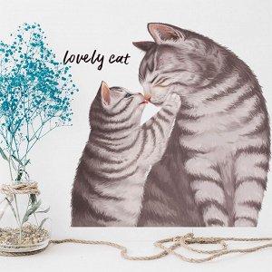 Наклейка многоразовая интерьерная  «Lovely cat» 38*39 см (1904)