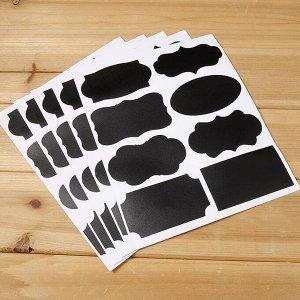 Набор грифельных наклеек для кухни 5 листов (1025)
