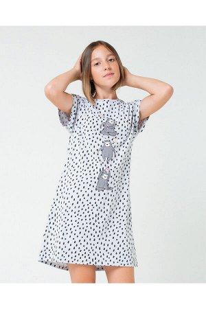 КБ 5543/серо-голуб.меланж,крапинка платье для дев