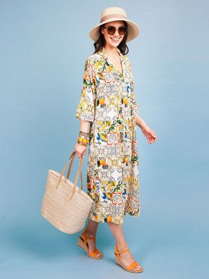Платье 100% вискоза, FABRETTI, FRT2021006-7