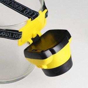 Фонарь налобный, 1 LED, 1 режим,  3 АА, микс, 7х7 см