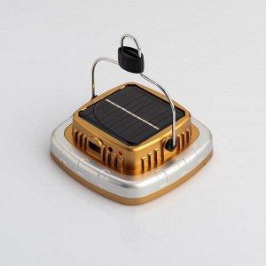 Фонарь аккумуляторный 5 Вт, 1200 мАч, COB, USB, солнечн батарея, 1 режим, индикатор заряда