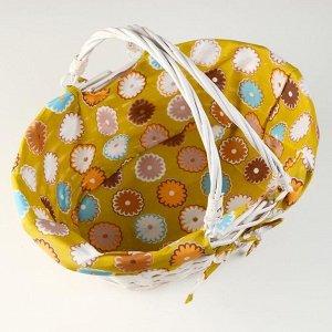 Корзина плетеная, 37х27х15 см, лоза, ткань