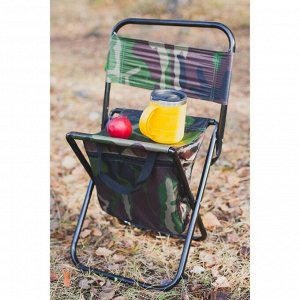 УЦЕНКА Стул туристический с сумкой, до 60 кг, размер 35 х 26 х 60 см, цвет хаки