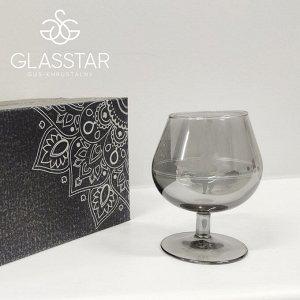 """Набор 6 бокалов для бренди Glasstar """"Графит"""" / 250 мл"""