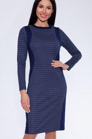 Платье (Цвет: темно синий) 055-567