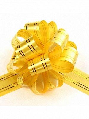 Бант шар 323/30 с золотой полосой цвет желтый 32В