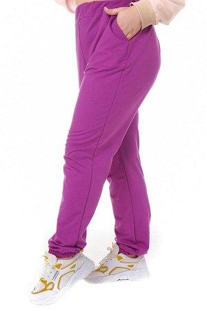 Брюки-5117 Модель брюк: спортивные; Материал: Трикотаж;   Фасон: Брюки; Параметры модели: Рост 168 см, Размер 54 Брюки спортивные трикотажные пурпурные (двухнитка) высокий рост Универсальные и невероя