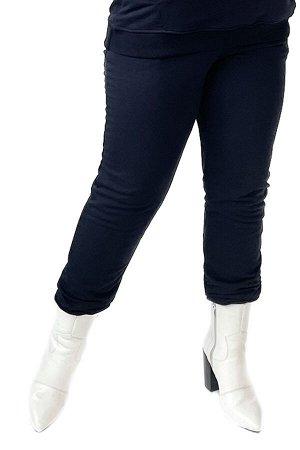 Брюки-5091 Модель брюк: Спортивные; Материал: Трикотаж;   Фасон: Брюки; Параметры модели: Рост 173 см, Размер 54 Брюки спортивные трикотажные синие (трехнитка) высокий рост Длина изделия 50 размера по
