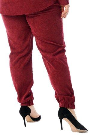 Брюки-4754 Модель брюк: Джоггеры; Материал: Микровельвет;   Фасон: Брюки; Параметры модели: Рост 168 см, Размер 54 Брюки микровельвет бордовые Длина изделия 50 размера по спинке 98 см. В каждом следую