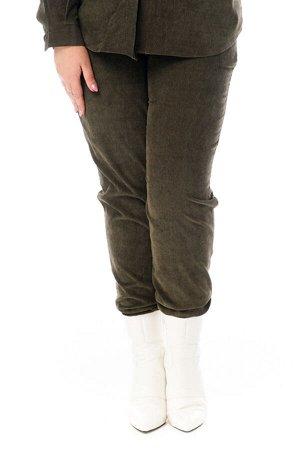 Брюки-4750 Модель брюк: Джоггеры; Материал: Микровельвет;   Фасон: Брюки; Параметры модели: Рост 173 см, Размер 54 Брюки микровельвет хаки Длина изделия 50 размера по спинке 98 см. В каждом следующем