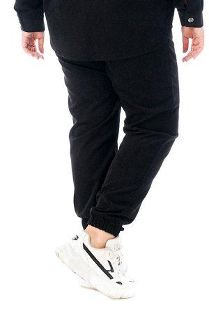 Брюки-4746 Модель брюк: Джоггеры; Материал: Микровельвет;   Фасон: Брюки; Параметры модели: Рост 173 см, Размер 54 Брюки микровельвет черный Длина изделия 50 размера по спинке 98 см. В каждом следующе