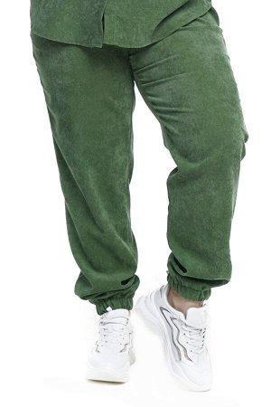 Брюки-4772 Модель брюк: Джоггеры; Материал: Микровельвет;   Фасон: Брюки; Параметры модели: Рост 168 см, Размер 54 Брюки микровельвет фисташковые Длина изделия 50 размера по спинке 98 см. В каждом сле