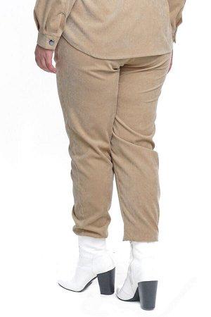 Брюки-4719 Модель брюк: Джоггеры; Материал: Микровельвет;   Фасон: Брюки; Параметры модели: Рост 173 см, Размер 54 Брюки микровельвет молочные Длина изделия 50 размера по спинке 98 см. В каждом следую