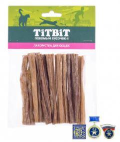 Титбит Кишки говяжьи для Кошек мягкая упаковка 30гр