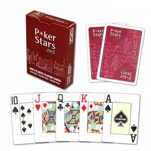 Карты Pokerstars красные 54 пластиковые 63*88мм (100% пластик)