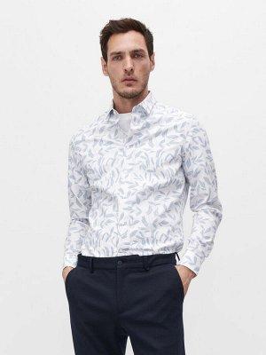 Рубашка из хлопка с растительным мотивом