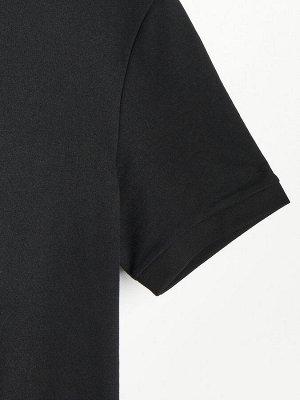 Футболка-поло из гладкой ткани