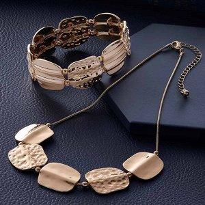 """Комплект бижутерии """"Сюзанна"""": украшение на шею (1 шт.), браслет (1 шт.)"""
