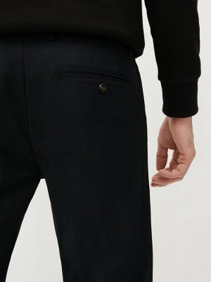 Брюки-чиносы slim fit из ткани с добавлением хлопка