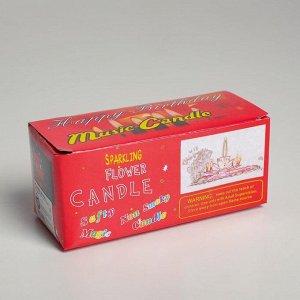 """Свеча для торта музыкальная """"Тюльпан"""". красная. 12?5 см"""