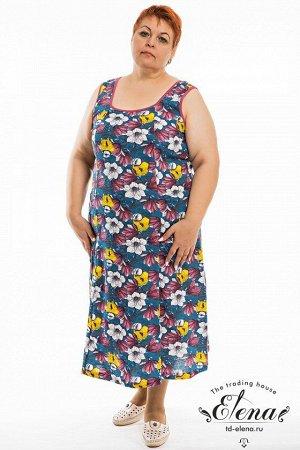 Сарафан Сарафан женский выполнен из 100% хлопковой ткани, простой покрой обеспечивает удобство повседневной носки, разнообразие расцветок удовлетворит любой вкус. Размерный ряд: 48-68. ВНИМАНИЕ!!! На