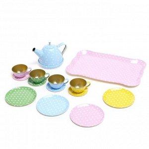 Набор металлической посудки «Чаепитие», 14 предметов