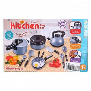 Набор посуды «Маленький шеф-повар» с аксессуарами, в коробке, уценка (порвана упаковка)